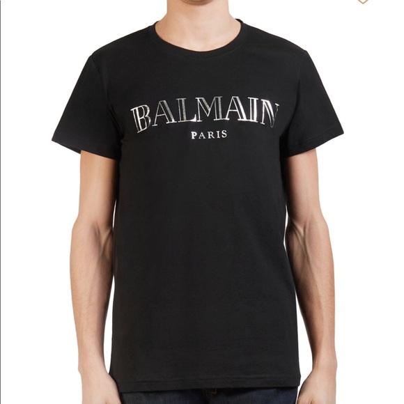 f60c2716 Balmain Shirts   Logo Tee   Poshmark